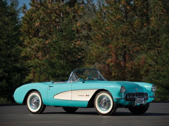 1957 Chevrolet Corvette C-1 Fuel Injection retro muscle supercar supercars fa