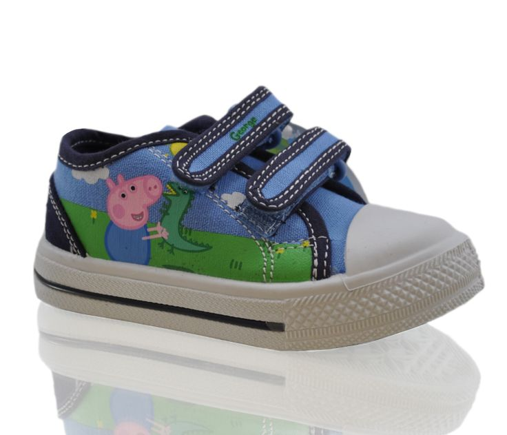 All kids love Peppa Pig. Let them walk with George on their feet and smiles on their lovely little faces. Trainers for only £8.99, buy now and we will ship tomorrow: http://shoesdays.co.uk/collections/flat-shoes-homepage/products/kids-girls-boys-peppa-pig-blue-george-trainers-s142