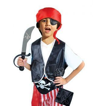 Complete kit with vest, patch, sword and hat. Looking for a stand out costume?. Pirate Dress Up. Related Products. | eBay!