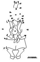 Dot to Dot Page  for the book Llama, Llama Misses Mama from Making Learning Fun.