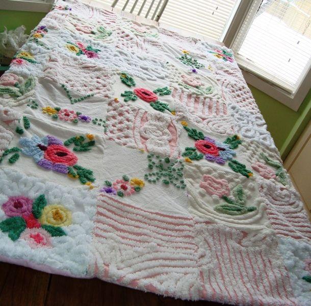105 best ♥♥Chenille quilt♥ images on Pinterest   Kinder mat ... : chenille quilts - Adamdwight.com