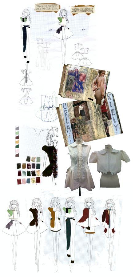 Fashion Sketchbook - vegetable themed fashion design with research, fashion drawings & development; fashion portfolio // Francesca Grace Hardy