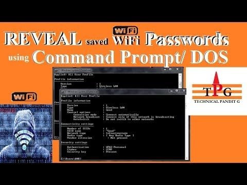 How to Reveal saved wifi Passwords using command prompt/DOS [HACK]