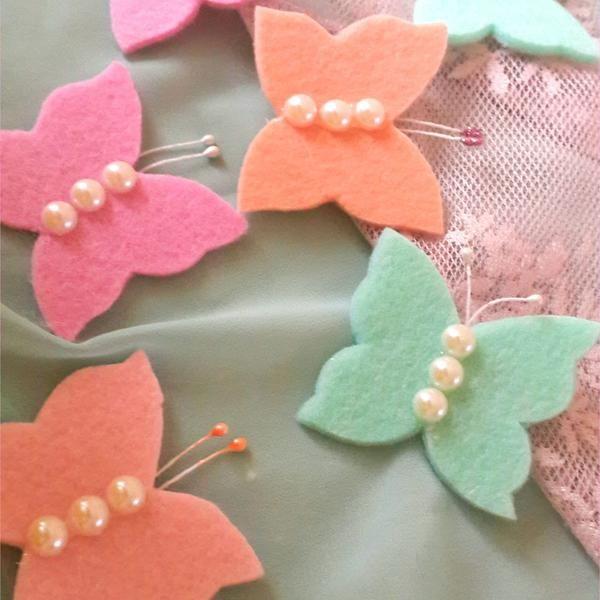 Keçe Kelebekler (10 adet )