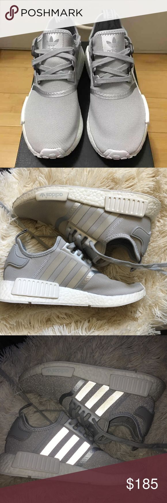 Grey adidas nmd size 9 Basically brand new, only worn inside the gym twice. Ori… – My Posh Picks