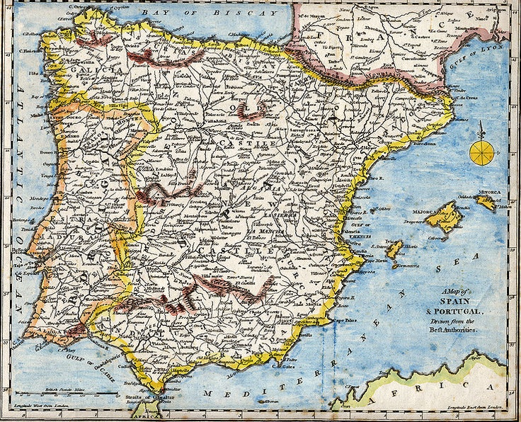 Best Antique Maps Of Spain Images On Pinterest Antique Maps - Robert wilkinson map of the us