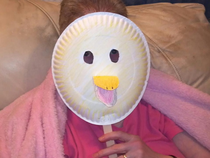 paper plate duck mask