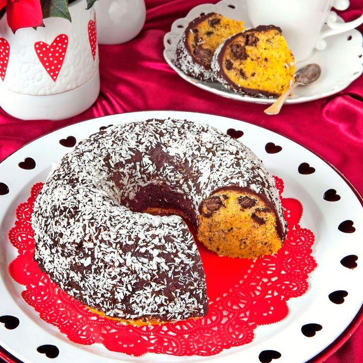 Saffranssockerkaka med glasyr & krossad choklad
