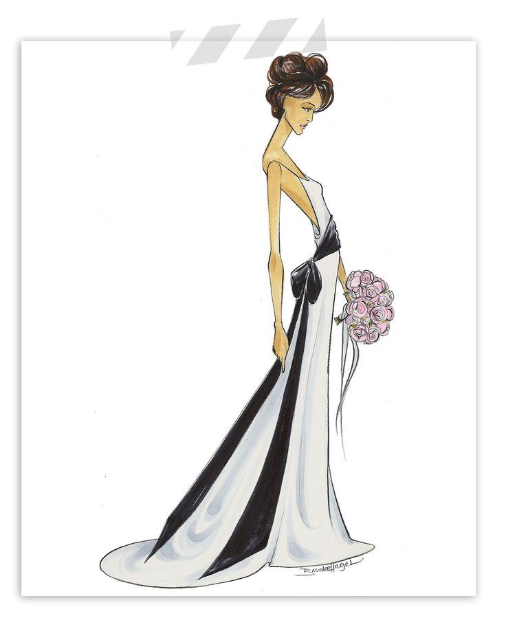 Copic Bridal Illustration by Brooke Hagel