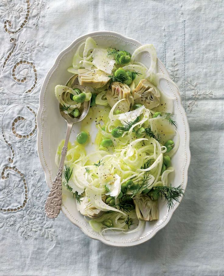 Fennel, artichoke and broad bean salad by Lyndey Milan from Lyndey and Blair's Taste of Greece | Cooked