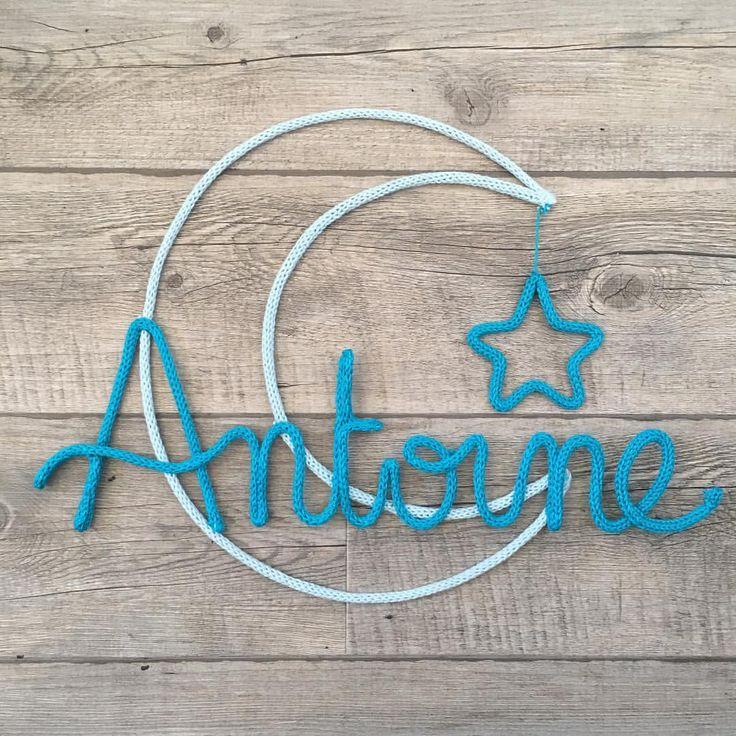 ⭐️ Antoine ⭐️ #antoine #tricotin #bleuturquoise #laine #wool #etoile #lune #moon #stars #decoration #decomurale #decorationchambrebebe #decorationchambreenfant #madeinfrance #madeincorsica #homemade #handmadewithlove #faitmain #babyboy