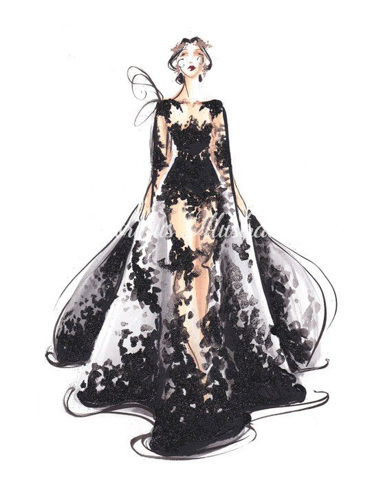 Black Wall Art Modern Art Fashion Illustration Blackart Black Decor Fashion Painting Fashion Wall Art Fashion Sketch Fashion Print In 2021 Fashion Sketches Illustration Fashion Design Dress Design Sketches