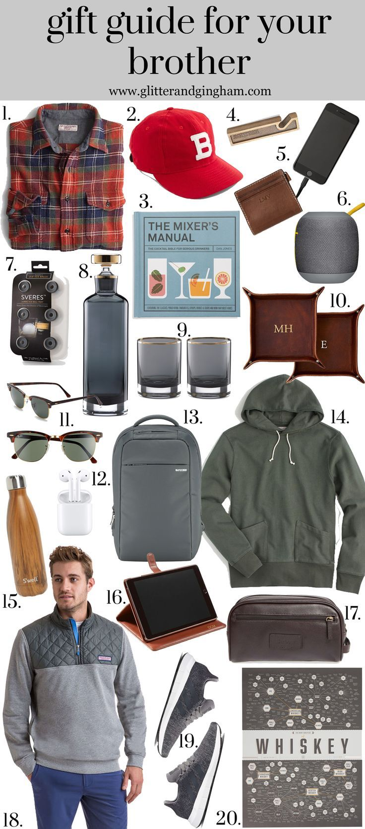 The Ultimate Gift Guide For Him Glitter Gingham Gift Guide For Him Gifts For Brother Brother In Law Gift