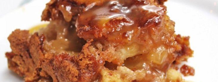 Gâteau Pouding aux Pommes Sauce au Caramel