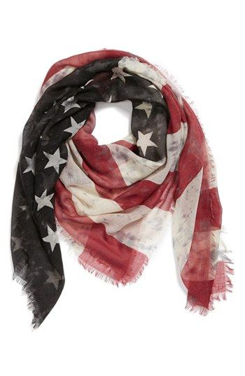 Roffe Accessories American Flag Scarf available at #Nordstrom