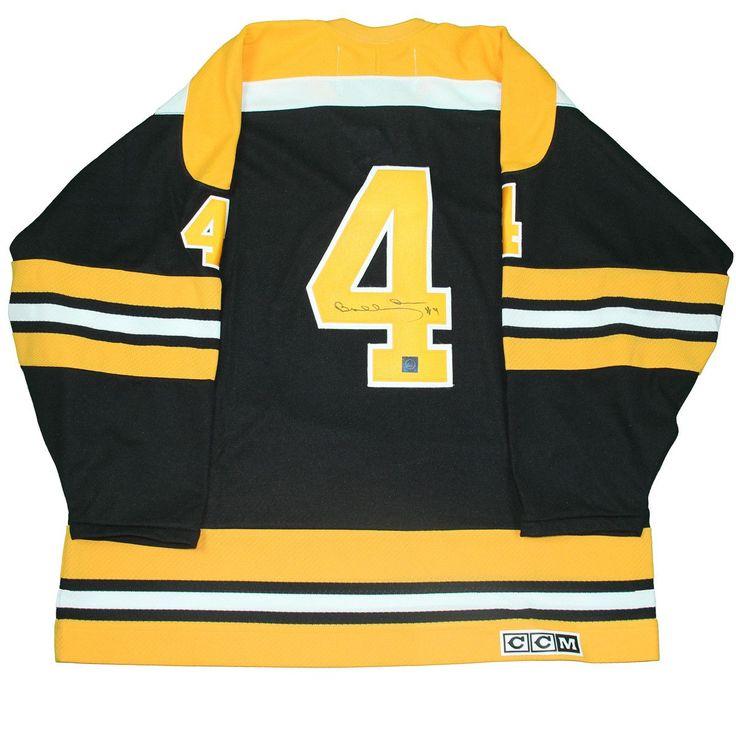 Bobby Orr Boston Bruins Signed Black Retro CCM Jersey: GNR COA
