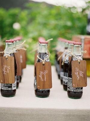 Soda bottle place cards