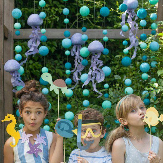 Beach Party Decorations Diy: Host A Fun DIY Mermaid Or Ocean Themed Party. Free