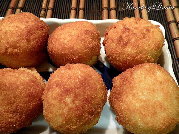 Kanela y Limón: Croquetas de arroz con jamón y queso