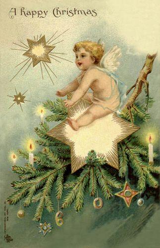 Christmas Postcard: Vintage Postcards, Vintage Christmas, Christmas Postcards, Christmas Angel, Christmas Images, Happy Christmas, Christmas Card, Christmas Trees, Merry Christmas