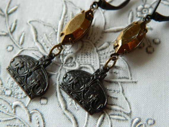 Assemblage Earrings by 58diamond Black Brass and by 58Diamond