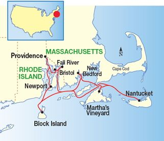 New England Islands Cruise Map