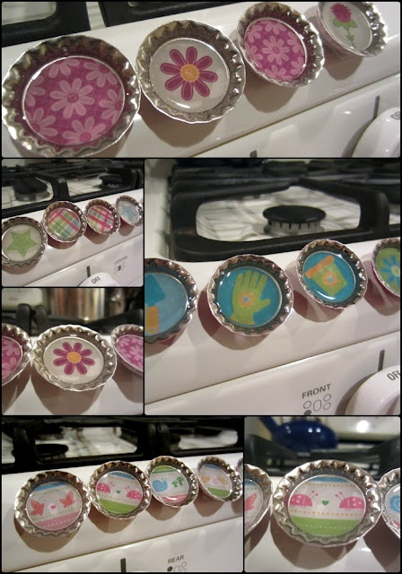 Simply DIY - make magnets out of bottle caps