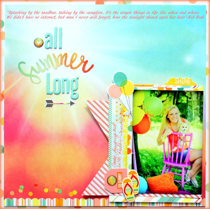All Summer Long - Scrapbook.com - Made with the Simple Stories Summer Vibes collection.