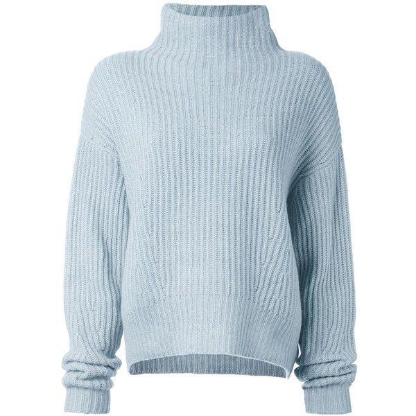 Le Kasha 'Veribier' jumper (1 095 AUD) ❤ liked on Polyvore featuring tops, sweaters, jumper, blue, blue top, cashmere sweater, blue sweater, jumper top and cashmere tops
