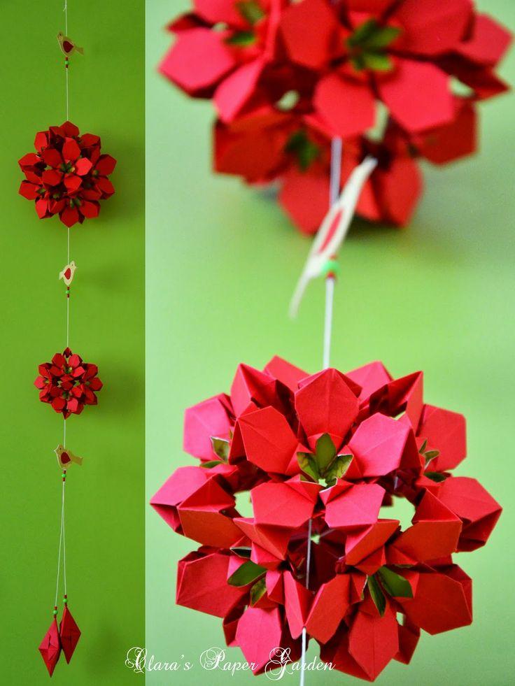 absolutely lovely mobile. Folded Clara's Paper Garden: Spring project - kiyoko http://terapiadopapel.blogspot.com.br/2013/08/foto-diagrama-e-curiosidades-da.html