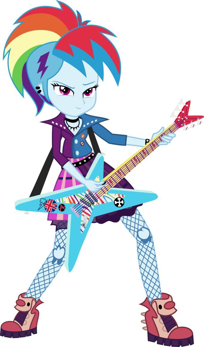 Девушки эквестрии радуга с гитарой картинки