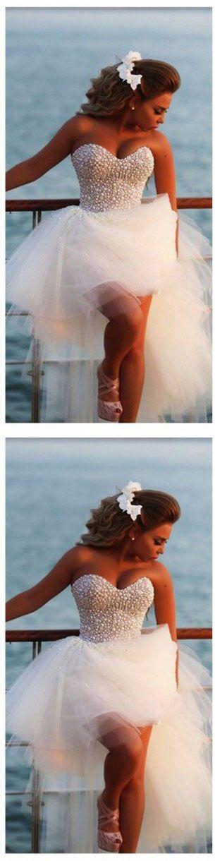 Beach Wedding Dresses,White Wedding Dresses,Ball Gown Wedding Dresses