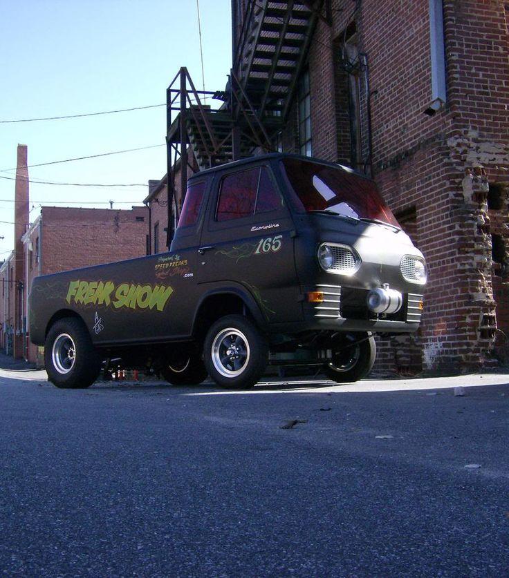 """Freak Show"", Econoline E100 Truck Gasserwith Red Windows"