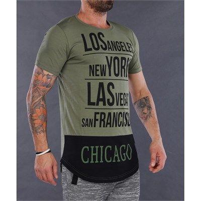 Yeşil uzun erkek tişört modellerini en ucuz fiyatlarıyla kapıda ödeme ve kredi kartına taksit ile Outlet Çarşım'dan satın alabilirsiniz.