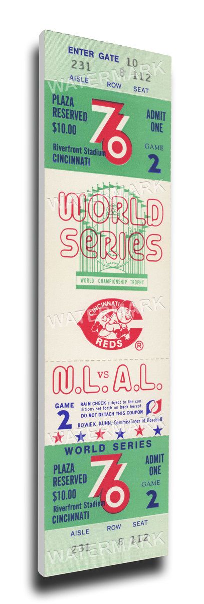 1976 World Series Canvas Mega Ticket - Cincinnati Reds