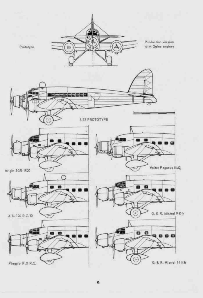 Forerunner of the SM.81 bomber that fought in Ethiopia, Spain, and in the Second World War, the SM.73 three-engined transpor...