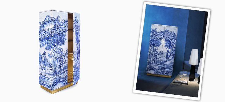 HERITAGE CABINET | Hand painted cabinet, portuguese crafts by Boca do Lobo #Portuguese #tiles