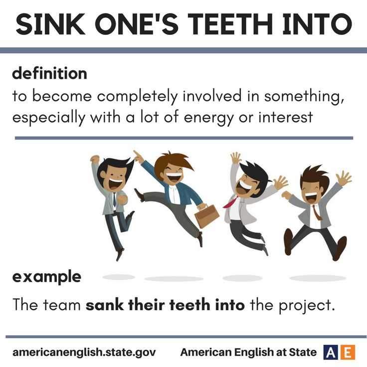Expression: Sink one's teeth into