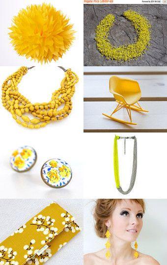 Yellow sunshine by Mandarina on Etsy--Pinned with TreasuryPin.com
