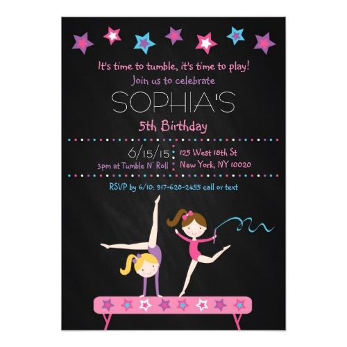 Best GirlS Chalkboard Birthday Invitations Images On