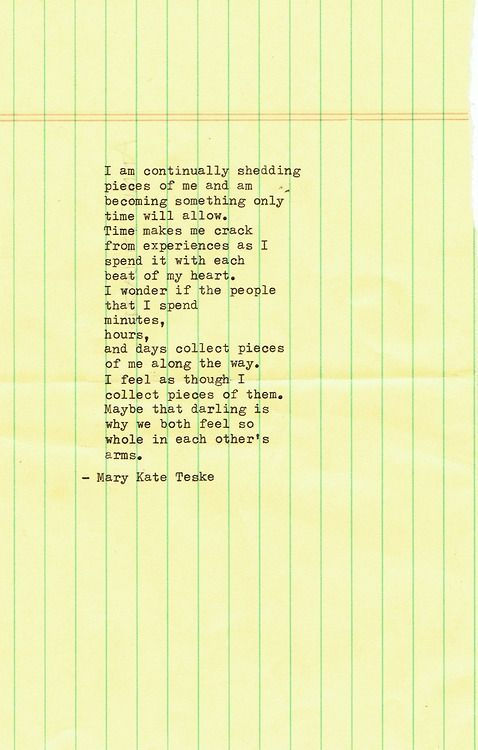 Typewriter poem #80 Sorry for the typo. Mary Kate Teske