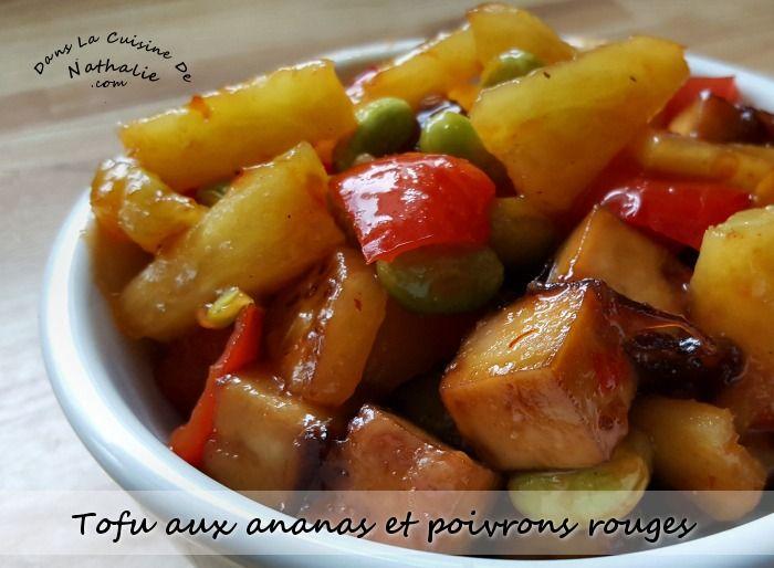 Un repas de tofu aux ananas et poivrons rouges… Wow, c'est vraiment excellent et à refaire le plus souvent possible! Jusqu'à récemment, je pensais que je détestais les ananas puis j'ai découvert que les ananas frais ça ne goûtait pas du tout la même chose …