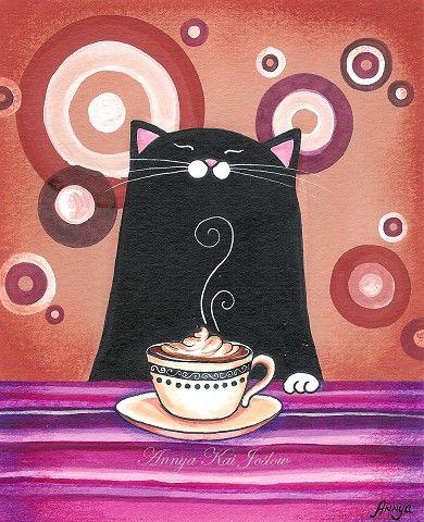 duas coisa que gosto muito: café e gato