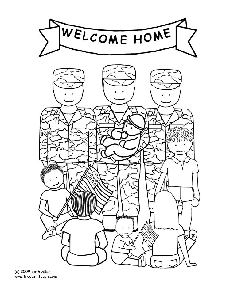 military thank you coloring pages - photo#14