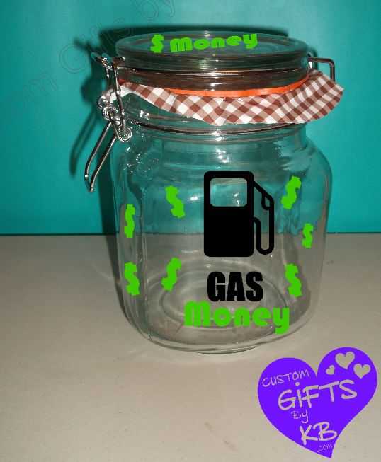 Cars-Road-Trip-Petro-Money-Jar-Word-Bank-Gas-Money-Travel ... |Gas Money Jar Pottery