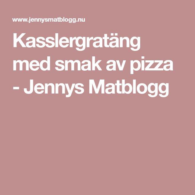 Kasslergratäng med smak av pizza - Jennys Matblogg