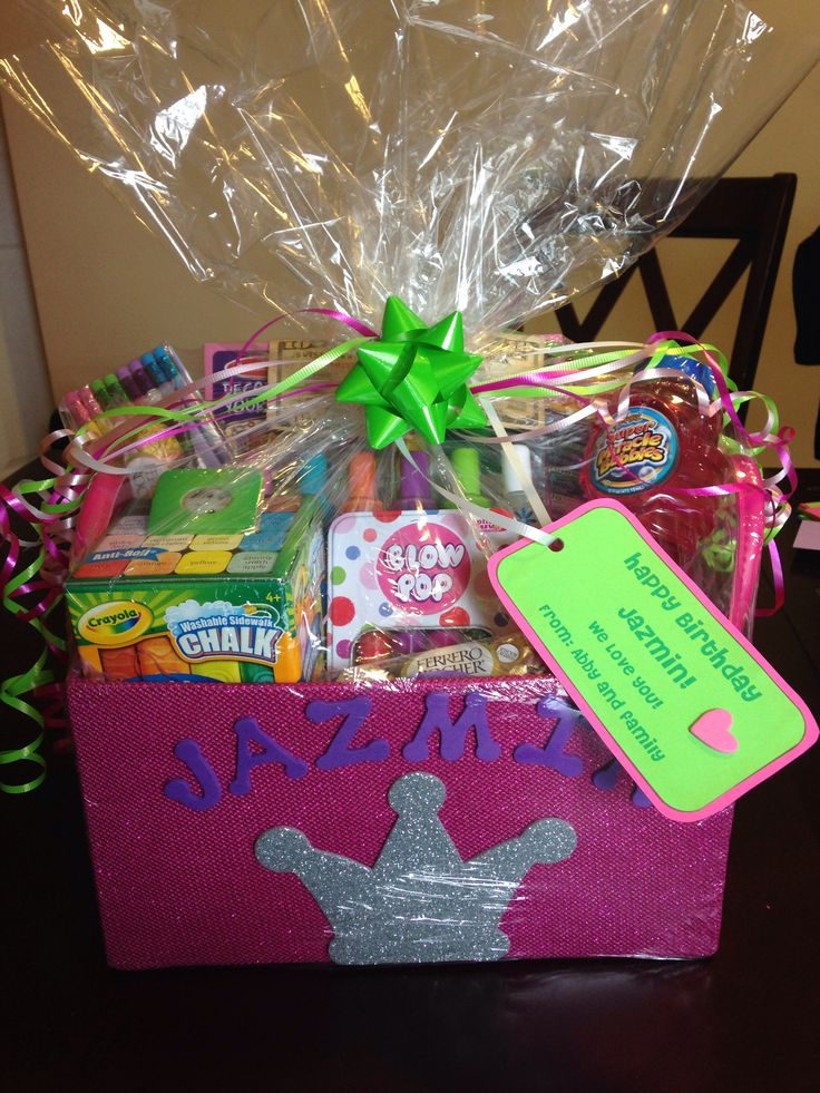 Gift basket I made for 8 year old girl :)