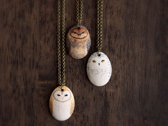Little Owl Necklace- Earthenware ceramic owl totem necklace | @giftryapp