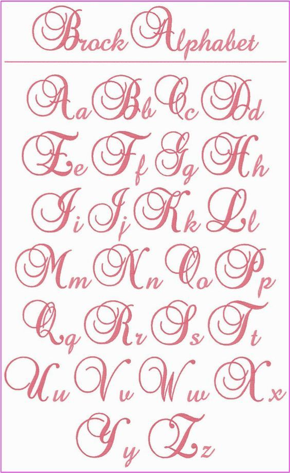 """! ! ! Brock Alphabet ! ! ! This is a beautiful, elegant alphabet that you'll want to use whenever you're looking for the perfect letters for a monogram.  The upper case letters stitch at 3"""" tall and the lower case letters are between .75"""" to 2.25"""" tall.  Use them on bed linens, kitchen items, towels, clothing, totes, anywhere you want to add a touch of elegance.:"""