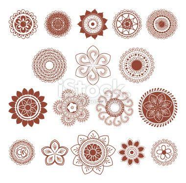 tatouage au henn mandala fleur dentelle tradition hindi illustration vectorielle libre de. Black Bedroom Furniture Sets. Home Design Ideas